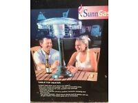 SunnGas Table Top Patio Heater Gas Compact - Brand New - Collection Only