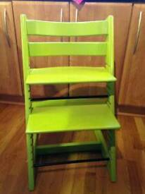 Stoke tripp trapp high chair in lime green