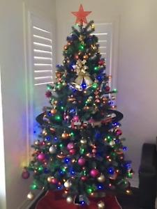 Christmas Tree - 6.5 Ft and Pre-lit LED Lights