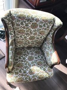Vintage Wingback Chair Cambridge Kitchener Area image 2