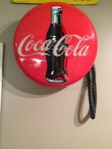 COCA COLA BUTTON WALL TELEPHONE NICE ADVERTISING! $60