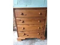 Pine Chest of Drawers with removable mirror
