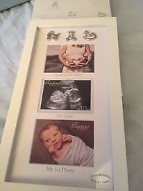 "Bambino Waiting For Baby Triple Collage Photo Frame In Cream Suits 4"" x 3"" Photo"