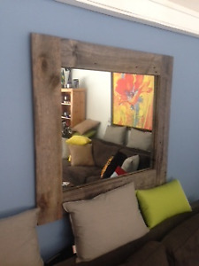 Authentic/ Gorgeous Barnboard Mirror