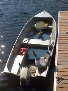 14' Aluminum Boat and 25 HP Evinrude