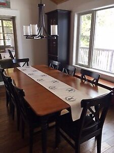 Kitchen / Dining Table for 8 with 8 Chairs