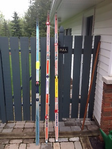 3 pairs of Cross Country Skis for Sale