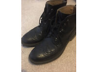 Vintage black leather brogue boots (hardly used)