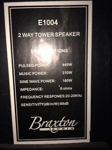 Braxton 2 Way Tower Speakers Kitchener / Waterloo Kitchener Area image 3