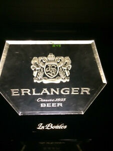 VINTAGE ERLANGER BEER LIGHT UP ADVERTISING SIGN $50
