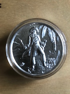 Privateer Ultra High Relief Silver Round - 2 oz silver coin