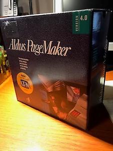 Vintage Software, Aldus PageMaker Ver: 4.0