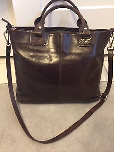 Brown Leather Tote/Laptop Bag
