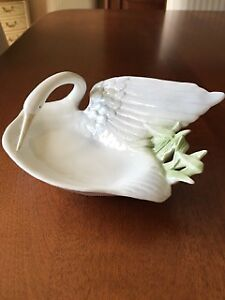 Retired Fitz & Floyd Swan Candy Dish 1981