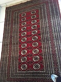 Persian Rug Boukhara In Pure Wool Hand Woven Vgc