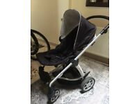 Mamas and Papas black Sola pushchair stroller
