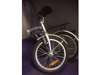 Proteam Folding Bike complete with mudguards, six gears and stand good condition