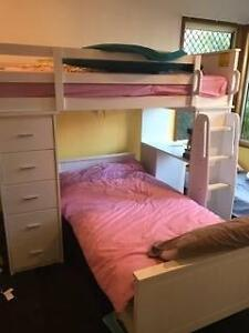 Child's bunk bed, white timber, excellent condition Mudgeeraba Gold Coast South Preview