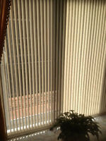 Verticaux pour porte patio - Vertical Blinds for patio door
