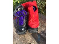 Artex leather cross country ski boots and gaiters