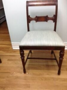 6 Antique Walnut Dining Chairs $350/OBO