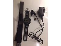 Garmin 910xt suitable for running, cycling, tri, open and pool swimming etc. HRM strap, charger, ant
