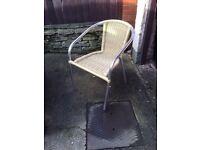 set of nine garden Bistrot chairs
