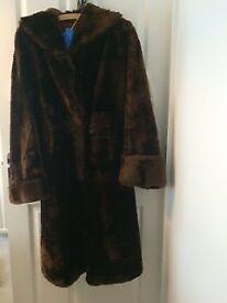 Vintage 1950's Hand Made Fur Coat