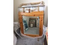 Solid Pine Unusual Shaped Mirror