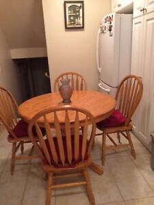 Dining room with drop in leaf and 4 chairs
