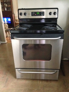 GE Self Cleaning Electric Stove & Whirlpool Dishwasher
