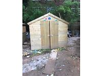 3no 12ft x 8ft Tongue & Groove Sheds (seperate sales or as one lot)