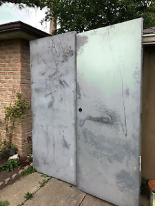 Metal Door. Double, New, never painted or used.