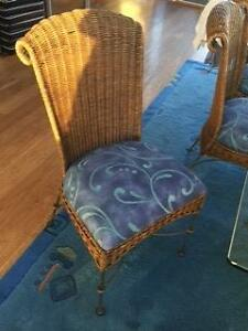 8 Wicker and steel dining chairs Mona Vale Pittwater Area Preview