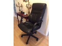 Black high back leather office chair
