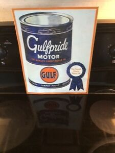 GULFPRIDE MOTOR OIL ADVERTISING SIGN $35