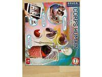 Human body educational game / Le corps humain- for 8yo+, from Educa explorer.