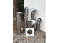 Double walled insulated flue stove pipe