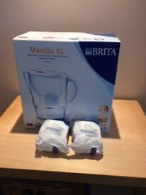Brita Water Filter Jug c/w two new filters.