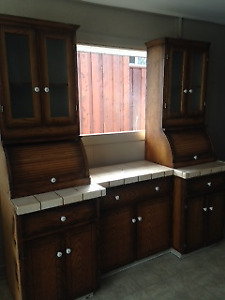 Solid Fir  China Cabinet/Hutch