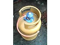 Butane gas cylinder (empty) plus regulator