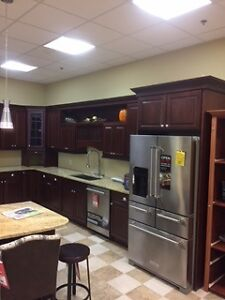 Beautiful Cherry fin kitchen cabinets with granite counter tops