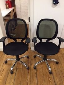 2x Black office chairs VERY CHEAP