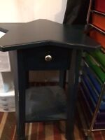 Pottery Barn - Star shaped end table - navy