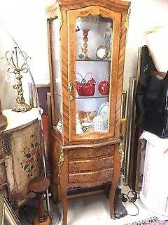 Display Cabinet/French Vitrine-Louis XVI style, in walnut, in vgc