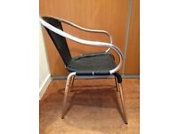 Pair of Black and Silver Chairs