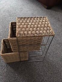 Basket an Metal storage unit