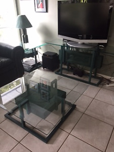 Coffee table,end tables and TV stand set