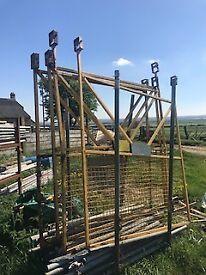 sliding scaffold gates