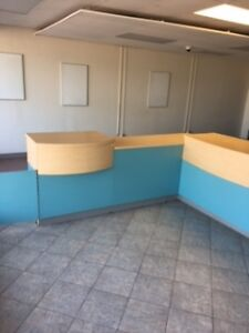 5 Desks and BEAUTIFUL counter MUST GO